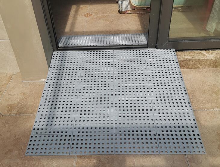 Indoor application of combined ramp